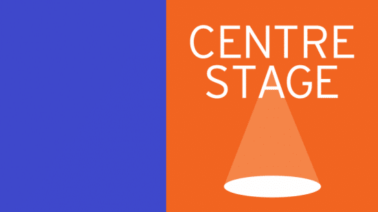 Centrestage With Blue